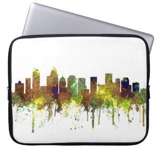Charlotte NC Skyline SG Safari Buff Laptop Sleeve