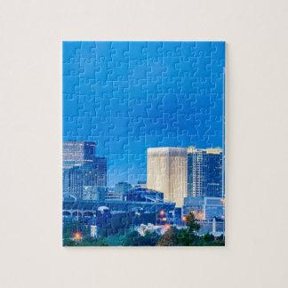 charlotte north carolina evening skyline   queen c jigsaw puzzle