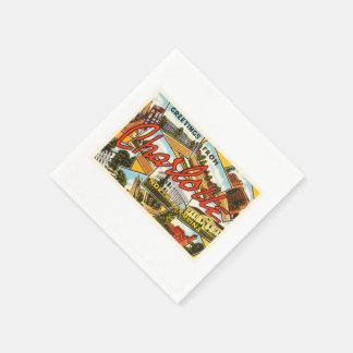 Charlotte North Carolina NC Old Vintage Postcard- Paper Napkin