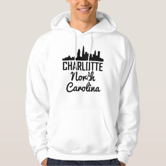 Charlotte North Carolina Skyline Hoodie