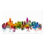 Charlotte North Carolina Skyline Pack Of Standard Business Cards