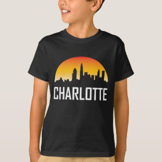Charlotte North Carolina Sunset Skyline T-Shirt