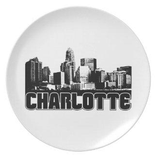 Charlotte Skyline Party Plates