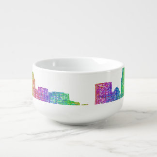 Charlotte skyline soup mug