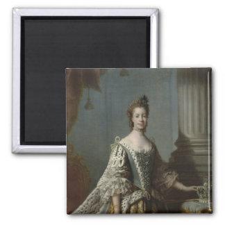 Charlotte Sophia of Mecklenburg-Strelitz, 1762 Square Magnet