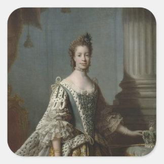 Charlotte Sophia of Mecklenburg-Strelitz, 1762 Square Sticker