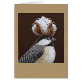 Charlotte the chickadee card