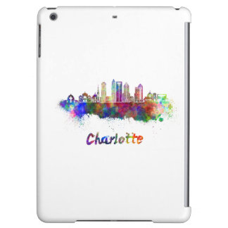 Charlotte V2 skyline in watercolor Case For iPad Air