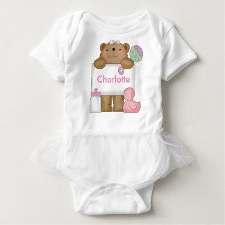 Charlotte's Personalized Bear Baby Bodysuit