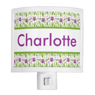 Charlotte's Personalized Iris  Night Light