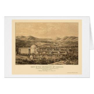 Charlottesville, VA Panoramic Map - 1856 Card