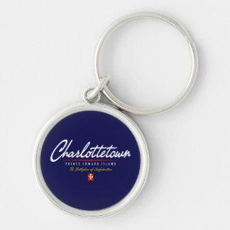 Charlottetown Script Keychain