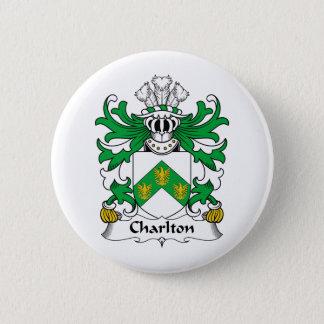 Charlton Family Crest 2 Inch Round Button