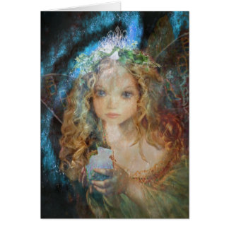 Charm - Fairy Angel with Fairy Dust Blessings Greeting Card