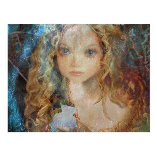 Charm - Fairy Angel with Fairy Dust Blessings Postcard