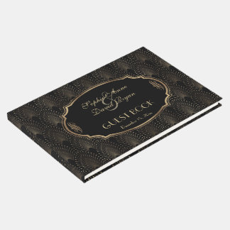 Charm Great Gatsby 20s Art Deco Wedding Guest Book
