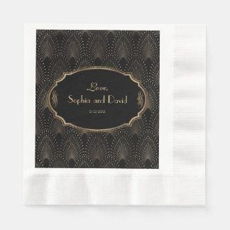 Charm Great Gatsby Vintage 1920s Art Deco Wedding Disposable Napkin