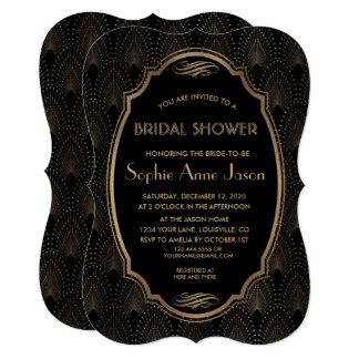 Charm Great Gatsby Vintage Art Deco Bridal Shower Card