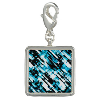 Charm Hot Blue and Black abstract digitalart G253