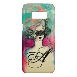 CHARM /Lady With Mask Monogram Pink Teal Green Case-Mate Samsung Galaxy S8 Case