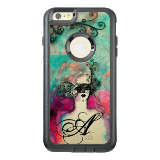 CHARM /Lady With Mask Monogram Pink Teal Green OtterBox iPhone 6/6s Plus Case