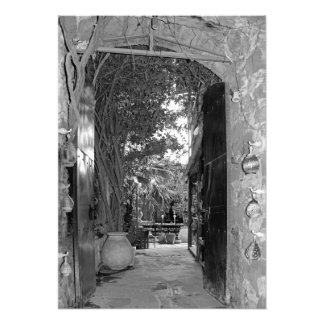 Charm of the tavern in Crete Photo Print