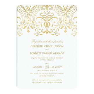 Charme de cru d'or des invitations | de mariage