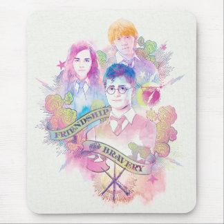 Charme | Harry, Hermione, et Ron Waterc de Harry Tapis De Souris
