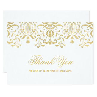 Charme plat de cru d'or de la carte de note de carton d'invitation 8,89 cm x 12,70 cm