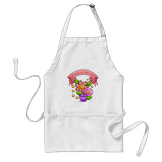 Charmed Positive Thought Doodle Flower Apron