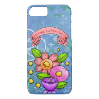 Charmed Positive Thought Doodle Flower iPhone Case