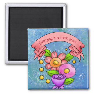 Charmed Positive Thought Doodle Flower Magnet