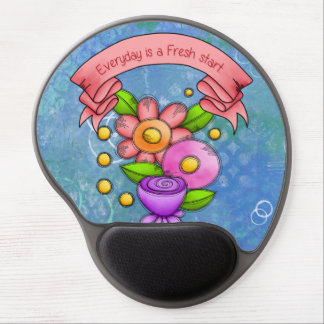 Charmed Positive Thought Doodle Flower Mousepad