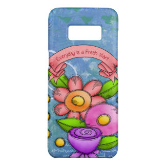 Charmed Positive Thought Doodle Flower Samsung Cas Case-Mate Samsung Galaxy S8 Case