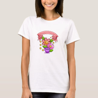 Charmed Positive Thought Doodle Flower T-Shirt