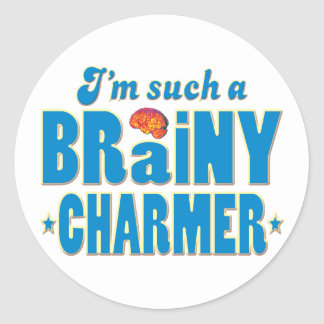 Charmer Brainy, Such A Classic Round Sticker