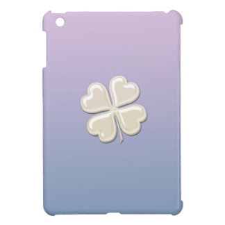 Charming adorable chic pearl lucky shamrock iPad mini cases