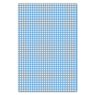 Charming Blue Gingham Tissue Paper
