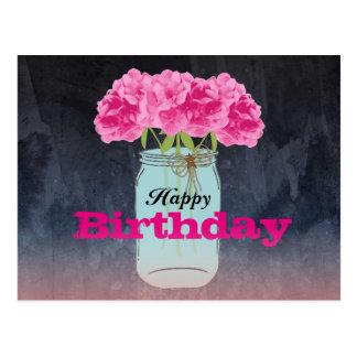 Charming Bouquet Postcard Birthday Greetings