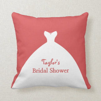 Charming Bridal Shower Customized Throw Pillow