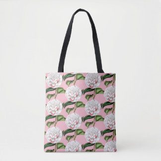 Charming Camellia Floral Tote Bag