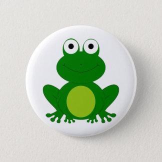 Charming cartoon frog 2 inch round button
