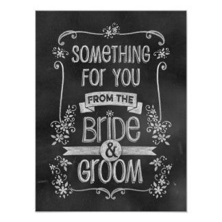 Charming Chalkboard Wedding Sign for Favour Table