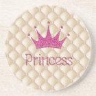 Charming Chic Pearls ,Tiara, Princess,Glittery Coaster