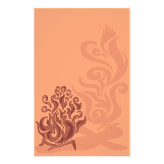 Charming Copper Bonfire Stationery