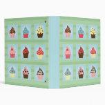 Charming Cupcakes Vinyl Binder