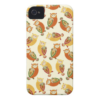 Charming, Cute owls in autumn colors iPhone 4 Cases