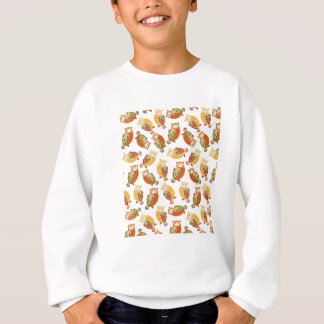 Charming, Cute owls in autumn colors Sweatshirt