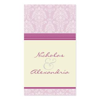 Charming Damask Wedding Web Card (violet/ivory) Business Card
