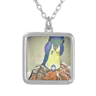 Charming Duck Silver Plated Necklace